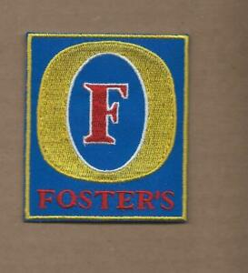 NEW 2 5/8 X 3 INCH FOSTERS BEER IRON ON PATCH FREE SHIPPING P1