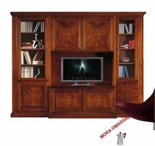 CLASSICO composizione parete attrezzata tinta noce mobile porta tv per sala 550