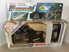 KAWASAKI 4000R racing motorcycle Vintage toy Remote Control Original box 1980s