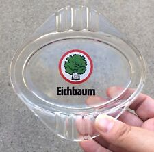 Eichbaum Beer Brewing Co. Glass Cigarette Ashtray Oak Tree Logo Mannheim Germany
