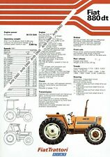 Fiat 880dt tractor 2 sided A4 leaflet /Brochure 1978?