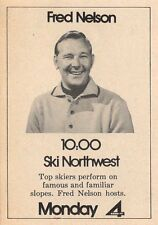 1971 KOMO TV AD~FRED NELSON hosts SKI NORTHWEST in SEATTLE~FAMOUS SKI SLOPES