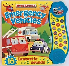 Kids/ Baby Emergency Vehicles Mega Sounds Like NEW!!! HARDBACK