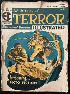 Vintage GOLDEN AGE Adult Tales of Terror Horror & Suspense Illustrated #2 - 1956