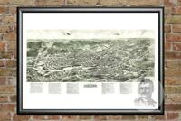 Old Map of Monroe, NY from 1922 - Vintage New York Art, Historic Decor