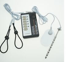 ESTIM E-STIM TENS UNIT WITH 2 ADJUSTABLE RINGS & URETHAL BAR CONDUCTIVE UK
