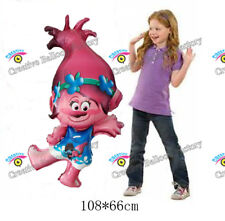 Jumbo108*66cm Princess Poppy Cartoon Trolls Foil Balloon Hellium Birthday party