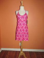 New Tehama Apparel Size M  Pink & Purple Ikat Print Tank Dress
