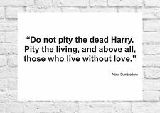 Albus Dumbledore - Pity Those Without Love - Quote/Poster/Art - A4 Size