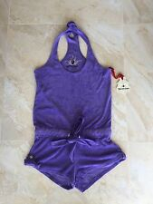 NWT Twisted Heart Purple Harlow French Terry Romper  size P ( XS) $149
