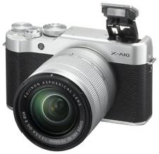 A - Fujifilm X-A10 Digital Compact System Camera + 16-50mm XC Lens SILVER