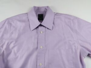 Joseph & Feiss Mens Non Iron Fitted LS Button Up Pastel Purple Shirt 14.5 32/33