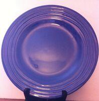 "Royal Norfolk Ceramic Blue RNF20 Ribbed Rim DINNER PLATE 10.5"" diameter"
