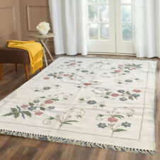236 Vintage Afghan Kilim Handmade Aubusson Rug Bedroom Floral Kilim Rug 6x4