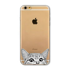 COQUE CASE IPHONE 4 4S LE CHAT GRIS SILICONE SOUPLE (TPU)