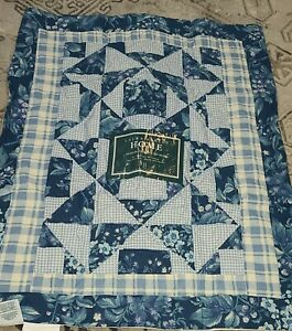 1 Laura Ashley Handcrafted Kingsberry (Bramble Berry Blue) Standard Quilted Sham