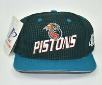 Detroit Pistons Logo Athletic Vintage 90's NBA Adjustable Snapback Cap Hat - NWT