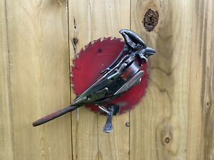 Metal Bird Sculpture Welded Stainless Junk Art Statue Cardinal Unique Gift Art