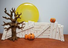 Sarah's Attic Full Moon Fence Backdrop 0326 Halloween Snowonders