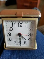 Vintage travel clock, westclox made in Brazil