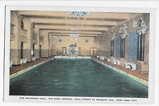 Vintage Postcard NYC The Park Central Swimming Pool 55th St at 7th Ave