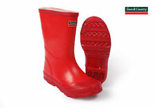 Kids Girls Boys Wellington Rain Boots Children's Rubber Wellies Waterproof 7-12