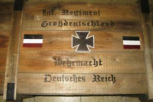 Holzkiste Wehrmacht Weinkiste Truhe Bank Tisch Möbel Shabby -Chick Vintage Möbel
