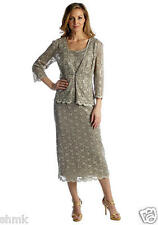 R&M Richards 2 piece set Sequined Lace Dress and Jacket Size 8 MSRP $139