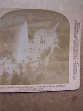 Stereoscope Stereo View Stereoscopic-  Germany Castle Linderhof