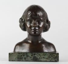 "SIGNED Tom Jones Little Girl 9"" Bronze Sculpture Lot 153"