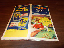 1946 Sunoco Pennsylvania Vintage Road Map