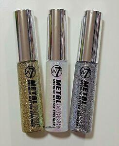W7 Metal Flash Metallic Glitter Liquid Eye Liner Choose Shade Silver White Gold