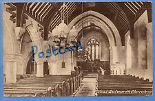 1934 POSTCARD INTERIOR WEST LULWORTH CHUIRCH DORSET NR WAREHAM WEYMOUTH CORFE