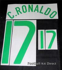Official Portugal Ronaldo 17 Euro 2008 Football Shirt Name/Number Set Away