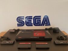 Sega Master System console bundle w/3 Games + 2 Controllers. Tested.