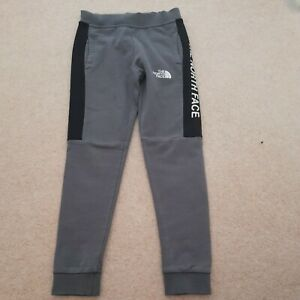 Boys grey jogging bottoms M youth junior joggers NORTH FACE age 9 10 11 years