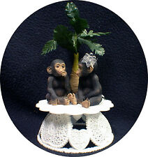 Adorable 1 of a KIND Monkey Chimp Ape Wedding Cake topper Groom top nature zoo