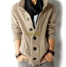 Mens Knitted Cardigan Sweaters Coat Knitwear Casual Sweater Outwear Jacket size