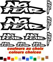 NO FEAR X10 adhesifs Vinyl Decals Stickers sticker MOTO AUTO Bike