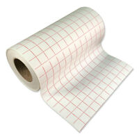"""2 Rolls-12""""x5' Transfer Paper Tape (lined) w/Red Grid Vinyl Craft Hobby Projects"""