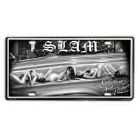 DGA David Gonzales Art Sitting Low Lowrider Tin Metal License Plate 12 x 6