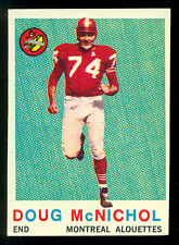 1959 TOPPS CFL FOOTBALL #32 DOUG MCNICHOL EX+ MONTREAL ALOUETTES WESTERN UNIV