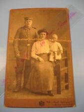 Soldat,Uniform 1895-1910 Kabinett,CDV Foto.Atelier Maufs,Marburg-Antique photo