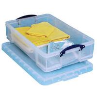 Plastic Storage Box / Organiser Under Bed Garage Cupboard 33 Litre