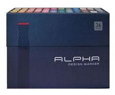 Alpha Brush Marker 36 Colors Twin Tip Graphic Art Animation Illustration moo