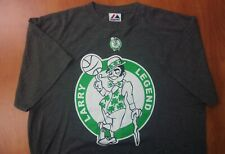 Majestic Boston Celtics Basketball Larry Bird Larry Legend Cotton Blend Shirt L
