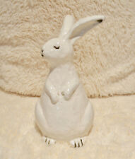 "Pottery Barn CHIPPY BUNNY Turned Head ~ 8.75"" High ~ EASTER Decor ~New IN Box"