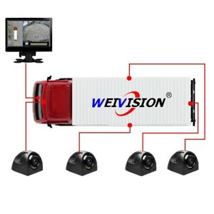 HD BirdView System Car DVR for Bus School bus Truck Fire engine LVDS Sign+7 LCD