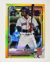 2021 Bowman Prospects Chrome Yellow #BCP-37 Jeisson Rosario /75 - Boston Red Sox