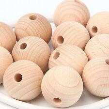 150 x Buche Holzkugeln roh unbehandelt 25mm Durchmesser 6 mm Bohrung